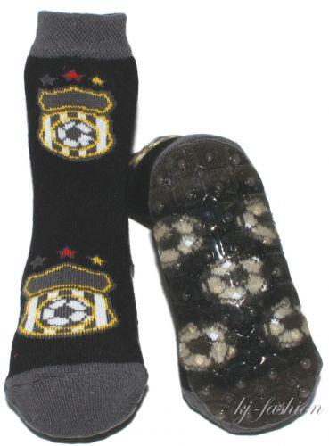 Stopper Socken Stoppi/'s von EWERS Modell Fußball in Schwarz 22104-1988